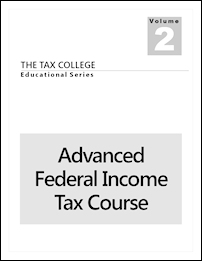 Our Advanced Federal Income Tax Course.