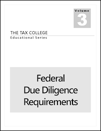 Our Publication - The Tax Preparer's Federal Due Diligence Requirements.