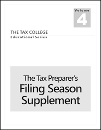 Our Publication - The Tax Preparer's Filing Season Supplement.